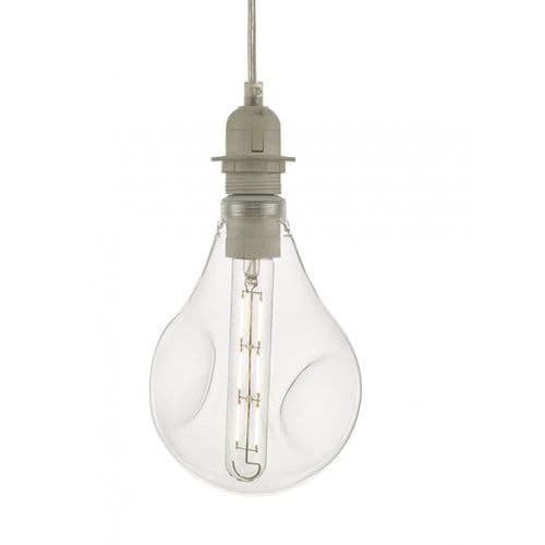 Dar ACDL6 Clear Organic Glass LED Dimmable Pendant Kit